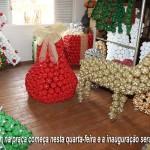 Praça Manoel Dias recebe peças decorativas do projeto Natal Espetacular