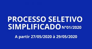PROCESSO SELETIVO SIMPLIFICADO Nº 01/2020
