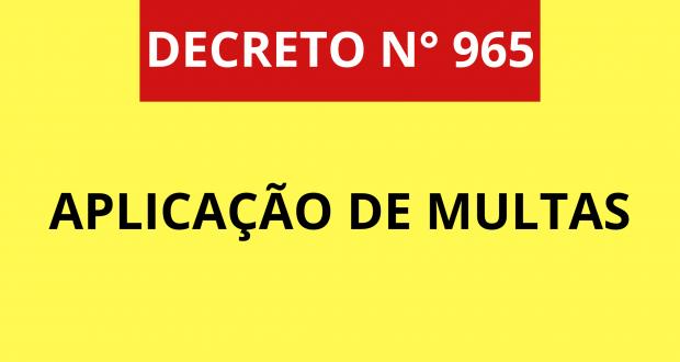 APLICAÇÃO DE MULTAS