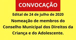 Nomeação de membros do Conselho Municipal dos Direitos da Criança e do Adolescente