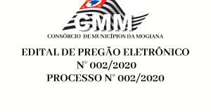 Edital Pregão Eletrônico nº. 002/2020
